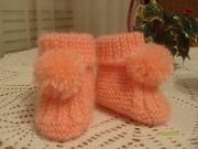 Вязание спицами для детей от 1 до 3 лет для девочек носочки 8