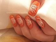 наращиваю ногти гелем на формах 400 рублей