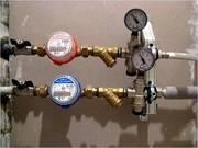 Установка счетчиков воды. Фильтры воды.