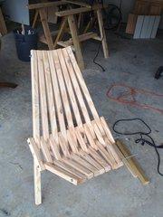 Раскладные кресла из дерева сосны